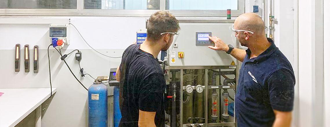 Neue Osmoseanlage und Labor für Qualitätssicherung